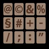 Illustration av alfabetiska tecken - symboler Royaltyfri Foto