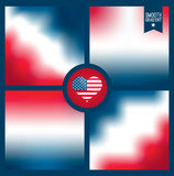 Illustration av Amerika Royaltyfri Bild