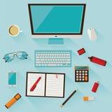 Illustration av arbetsstället Arkivfoto