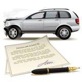 Forcerad bilförsäkring Fotografering för Bildbyråer