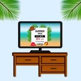 Illustration av bakgrund för sommarsäsong vektor illustrationer
