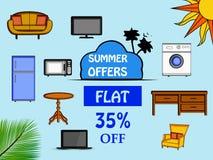 Illustration av bakgrund för sommarsäsong royaltyfri illustrationer