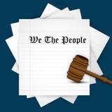 Illustration av bakgrund för USA konstitutiondag Arkivfoto
