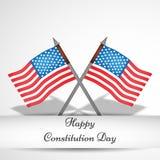 Illustration av bakgrund för USA konstitutiondag Fotografering för Bildbyråer