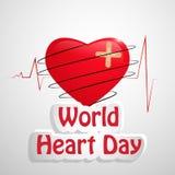 Illustration av bakgrund för världshjärtadag Royaltyfri Bild
