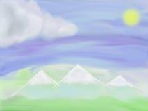 Illustration av berglandskapet Royaltyfri Fotografi
