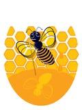 Illustration av biet Fotografering för Bildbyråer