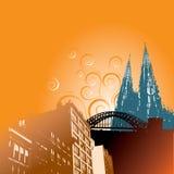 Illustration av cityscape Arkivfoto