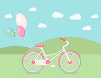 Illustration av cykeln Fotografering för Bildbyråer