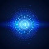 Illustration av den binära koden på abstrakt teknologibakgrund Royaltyfri Bild