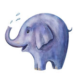 Illustration av den blåa elefanten Royaltyfri Fotografi