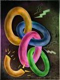 Illustration av den brutna chain sammanlänkningen Royaltyfri Illustrationer