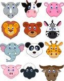 Djur head symbol för tecknad film vektor illustrationer