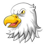 Illustration av den Eagle huvudmaskot stock illustrationer