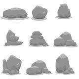Illustration av den fastställda vektorn för stenar Fotografering för Bildbyråer