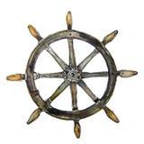 Illustration av den gamla segelbåten Arkivbilder
