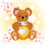 Illustration av den gulliga björnen Royaltyfri Fotografi