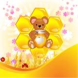 Illustration av den gulliga björnen Royaltyfria Bilder