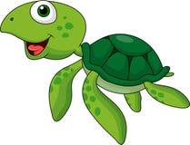 Grön sköldpaddatecknad film Arkivfoto