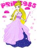 Illustration av den härliga prinsessan Royaltyfria Bilder