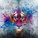 Illustration av den ilskna tigern Arkivbilder