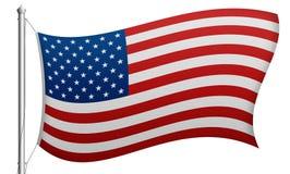 Illustration av den isolerade USA flaggan Arkivfoto