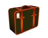 Illustration av den läderretro-tappning resväskan Arkivfoton