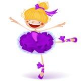 Illustration av den lyckliga lilla felika ballerina Royaltyfri Fotografi