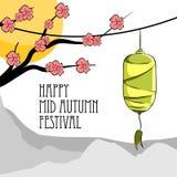 Illustration av den lyckliga mitt- höstfestivalen royaltyfri illustrationer