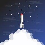 Illustration av den raket sprängde översikten Royaltyfria Foton
