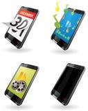 Illustration av den 3rd utvecklingen (3G) PDA symboler för telefon Arkivbilder