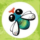 Illustration av den roliga flugan Stock Illustrationer