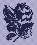 Illustration av den stiliserade floverdahlian royaltyfri illustrationer