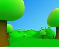 Illustration av den utomhus- bildsikten för djungel 3d Fotografering för Bildbyråer
