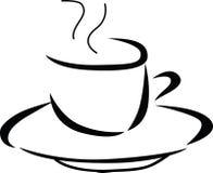Illustration av den varma koppen kaffe Arkivbild