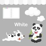 Illustration av den vita gruppen för färg Arkivfoton