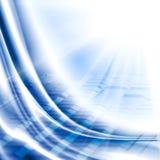 Illustration av det abstrakta teknologiska bakgrundsslutet upp Arkivfoto