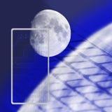 Illustration av det abstrakta teknologiska bakgrundsslutet upp Arkivfoton