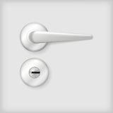 Illustration av det dörrhandtaget och låset Royaltyfria Bilder