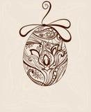 Dekorativt ägg fotografering för bildbyråer