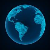 Illustration av det globala nätverket Royaltyfria Bilder