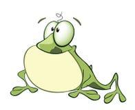 Illustration av det gulliga tecknad filmteckenet för grön groda Royaltyfri Foto