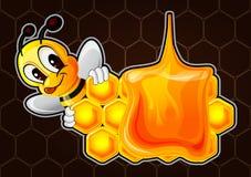 Illustration av det roliga biet för tecknad film Royaltyfria Bilder