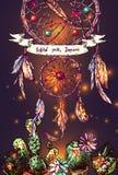 Illustration av dreamcatcher royaltyfri illustrationer