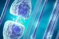 Illustration av en aktiv receptor på vit bakgrund framförande 3d vektor illustrationer