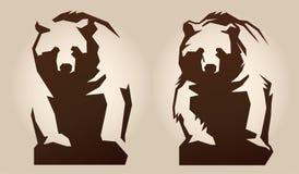 Illustration av en björn fotografering för bildbyråer
