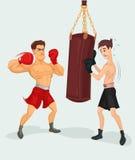 Illustration av en boxare vektor illustrationer