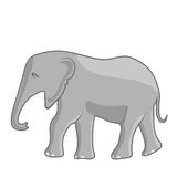 Illustration av en elefant Fotografering för Bildbyråer