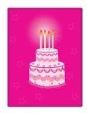 Födelsedagtårta Arkivfoto