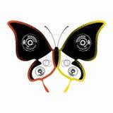 Illustration av en fjäril, vektorattraktion Royaltyfri Foto